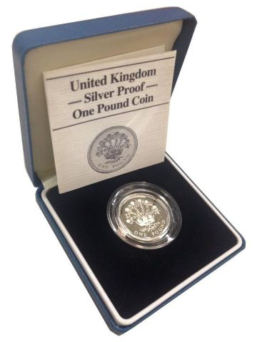 1986 Silver Proof One Pound Coin